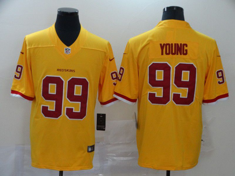 Men Washington Redskins 99 Young Yellow Nike Vapor Untouchable Stitched Limited NFL Jerseys