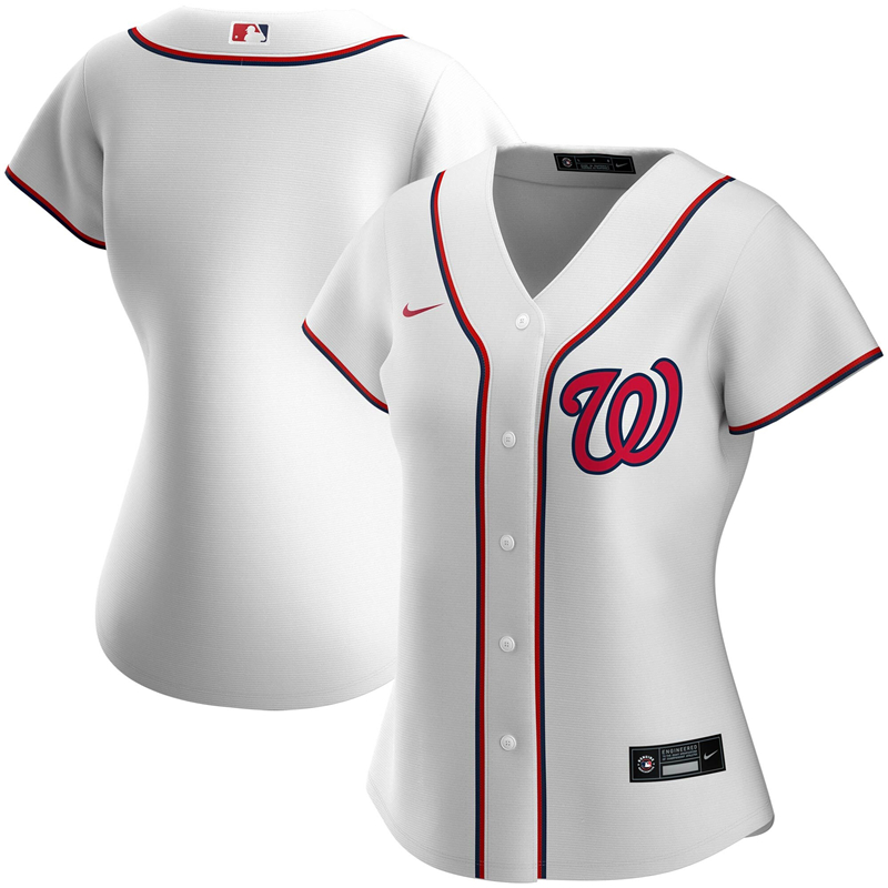 Women Washington Nationals Nike White Home 2020 Replica Team Jersey