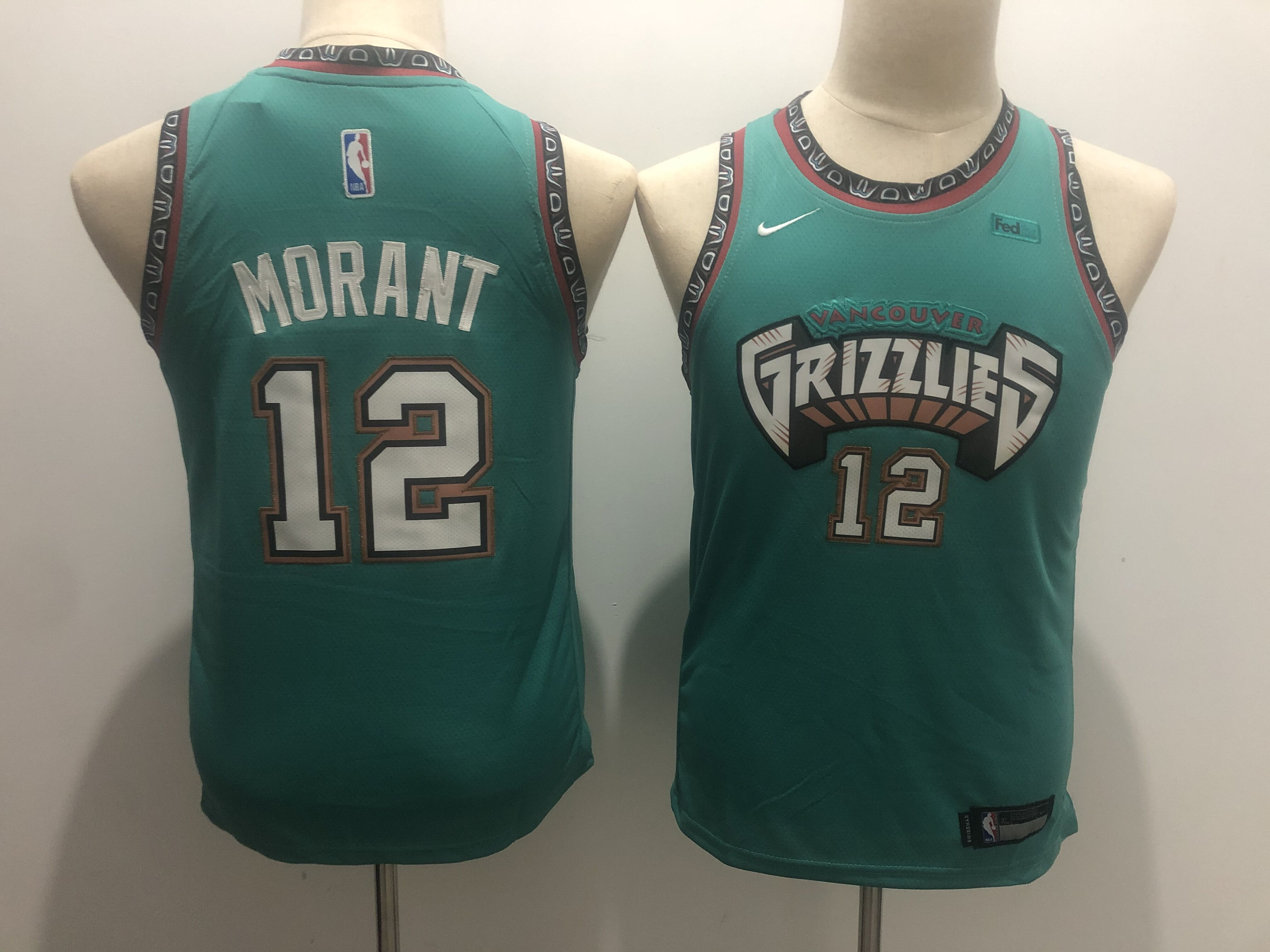 Youth Memphis Grizzlies 12 Morant green Nike NBA Jerseys