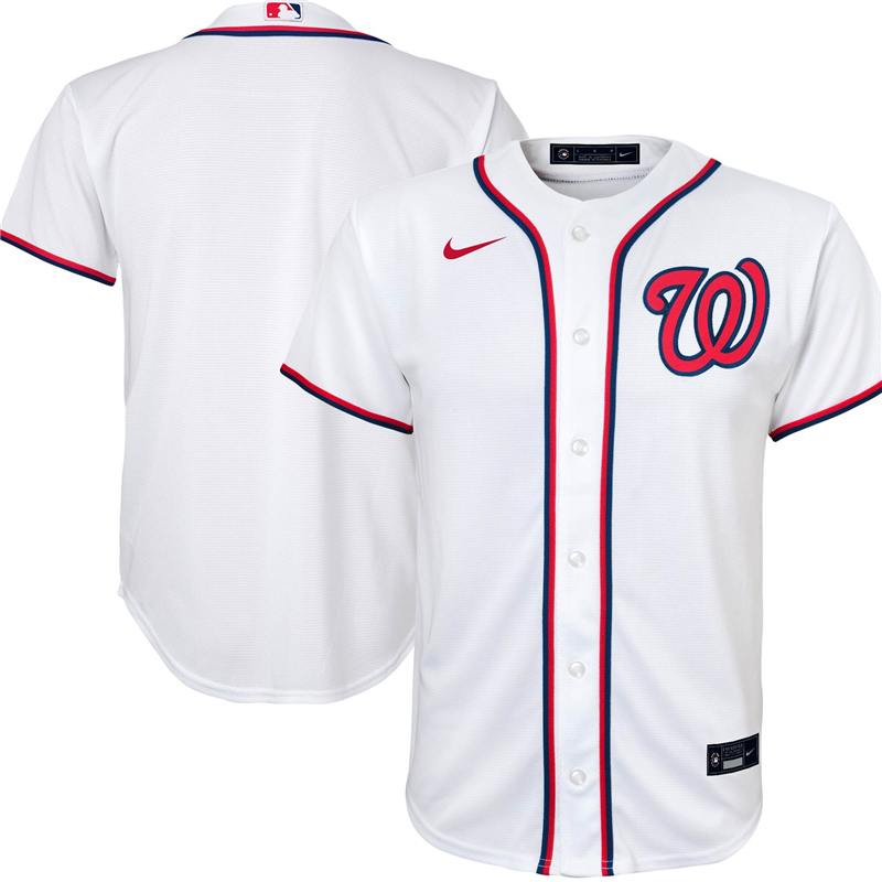 Youth Washington Nationals Nike White Home 2020 Replica Team Jersey