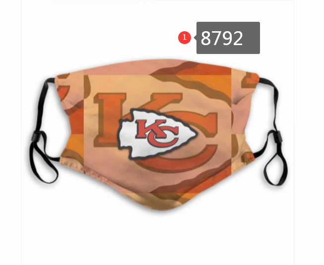2020 Kansas City Chiefs 11 Dust mask with filter