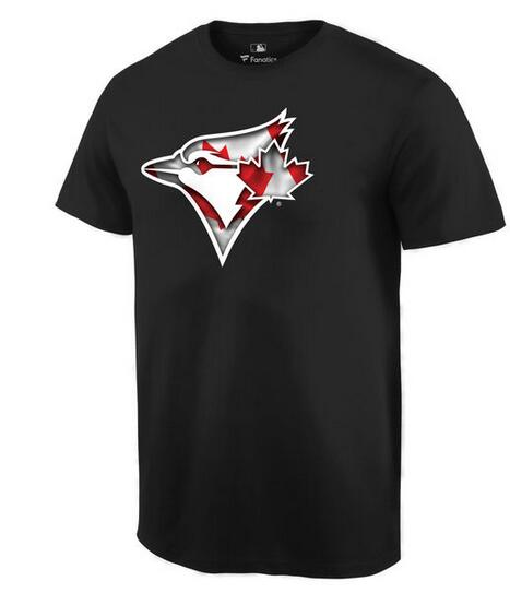 2020 MLB Men Toronto Blue Jays Black Banner Wave TShirt
