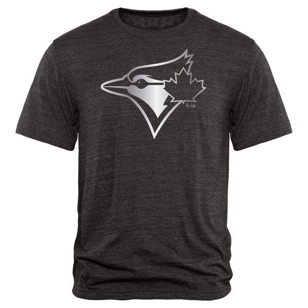 2020 MLB Men Toronto Blue Jays Fanatics Apparel Platinum Collection TriBlend TShirt Black