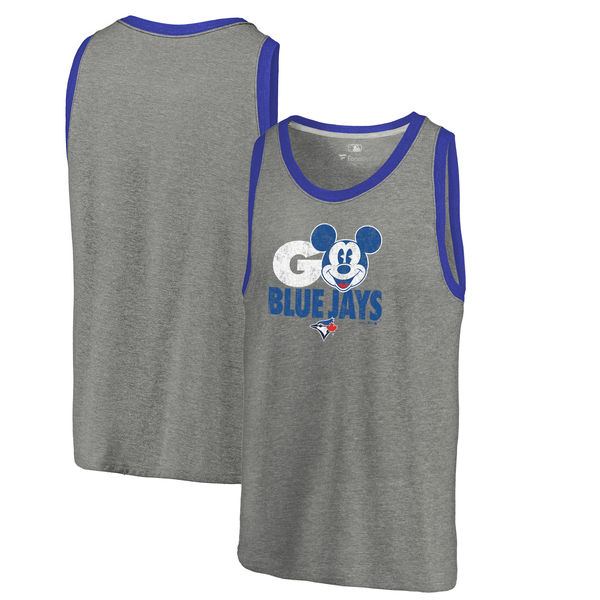 2020 MLB Men Toronto Blue Jays Fanatics Branded Disney Rally Cry TriBlend Tank Ash