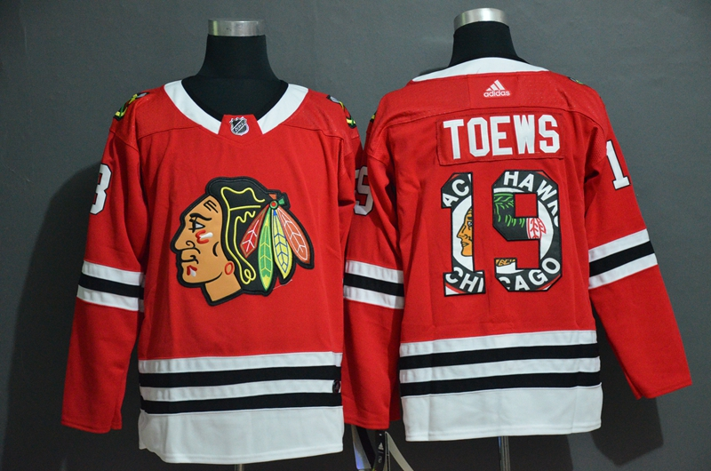 2020 Men Chicago Blackhawks 19 Tallon red jerseys