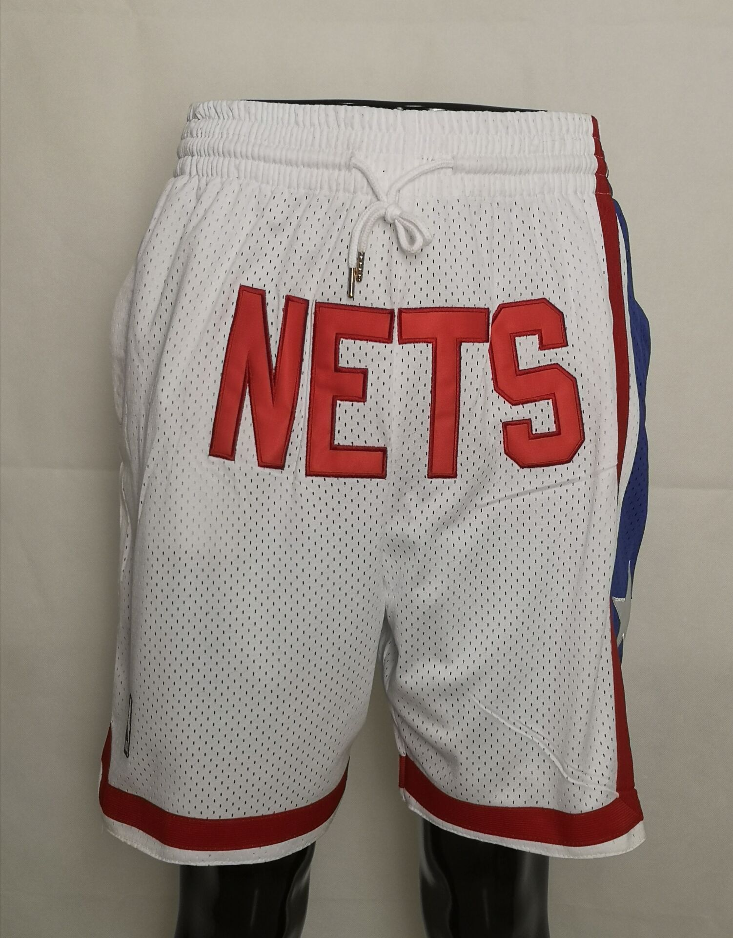 2020 Men NBA Brooklyn Nets white shorts