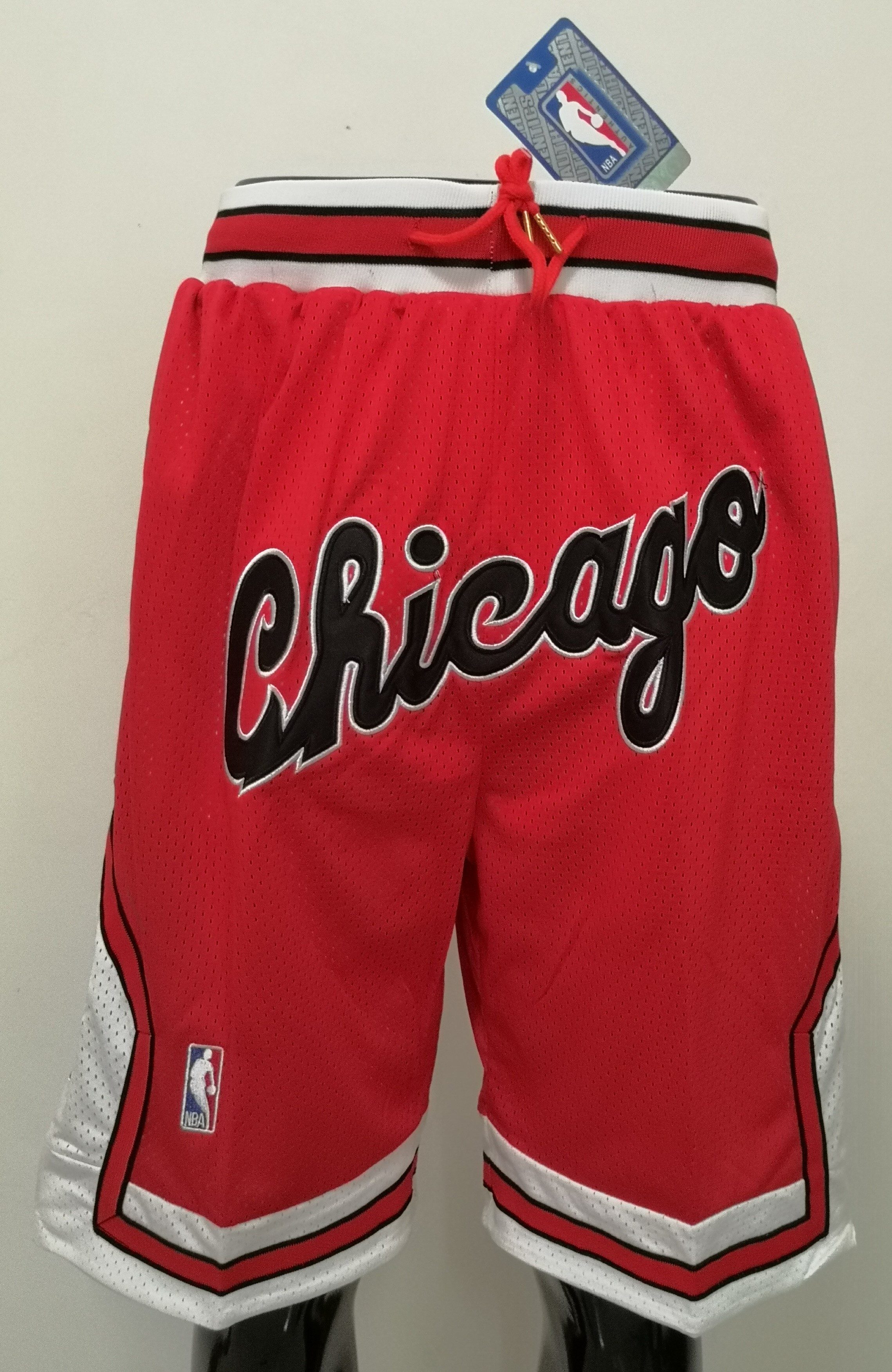 2020 Men NBA Chicago Bulls red shorts