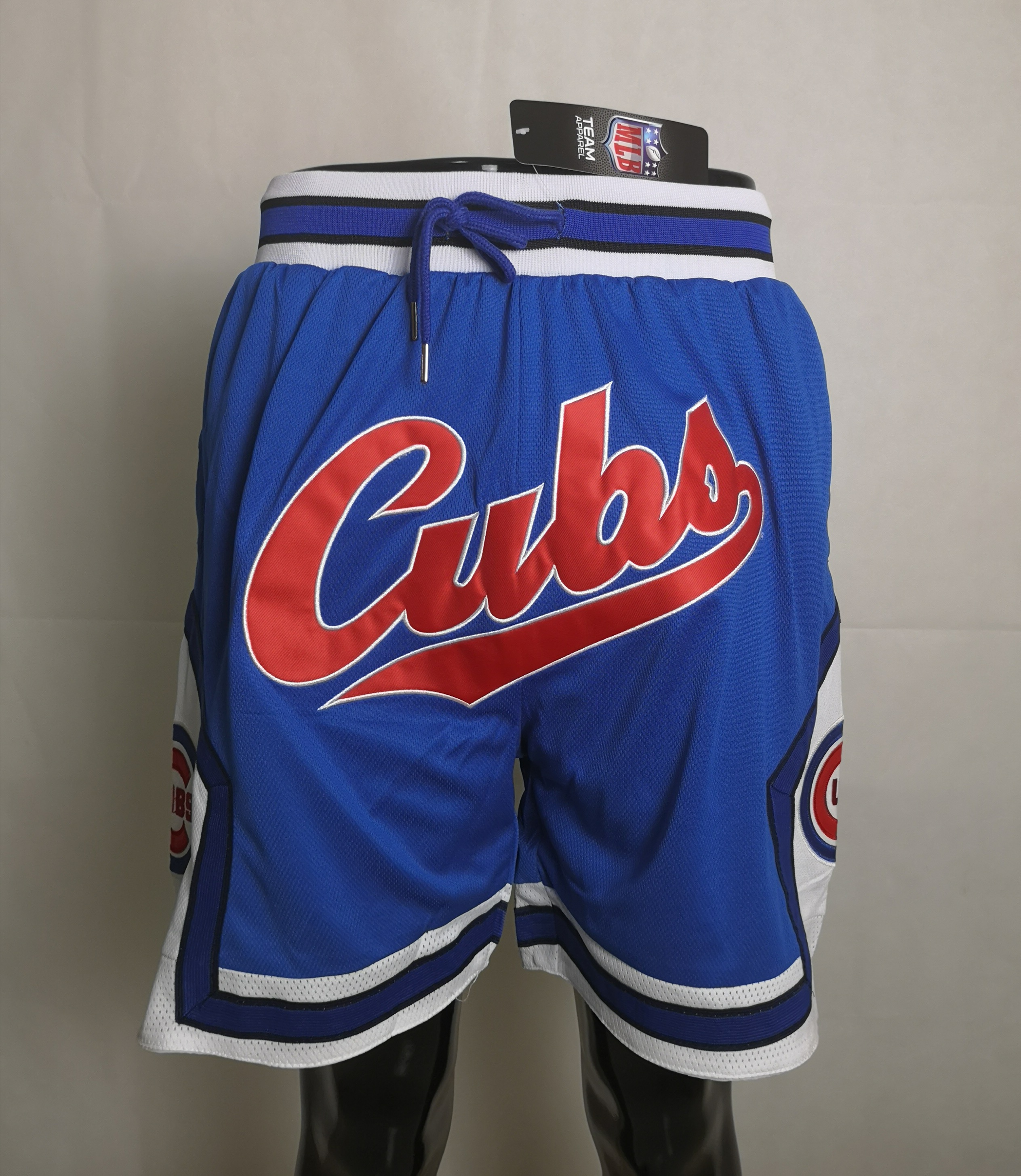 2020 Men NBA Chicago Cubs blue shorts