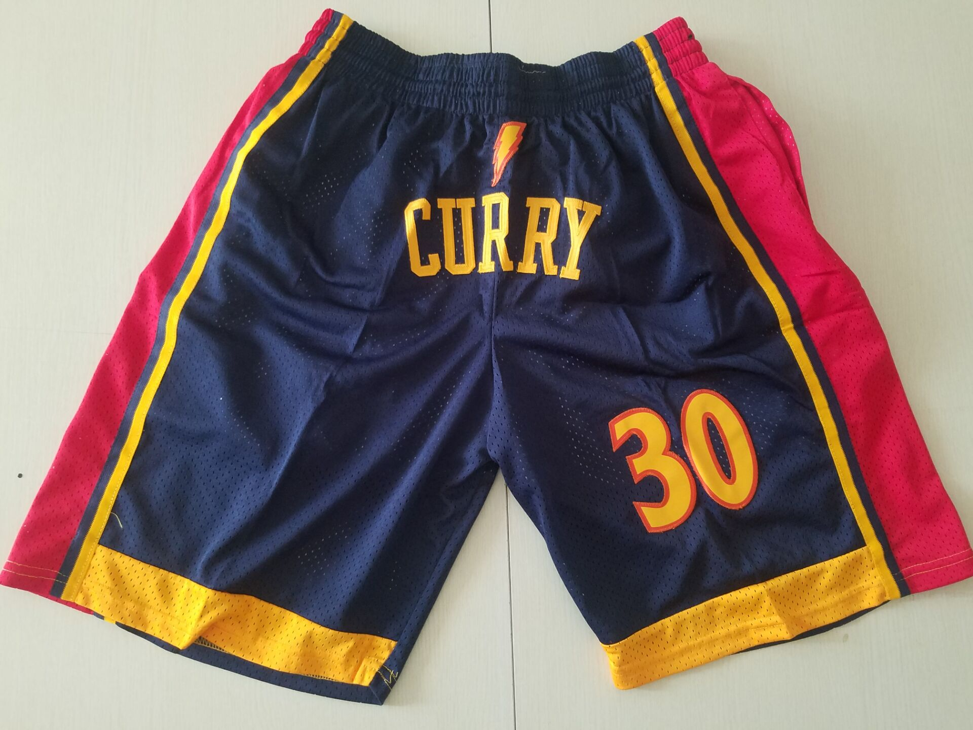 2020 Men NBA Golden State Warriors blue 30 Curry shorts