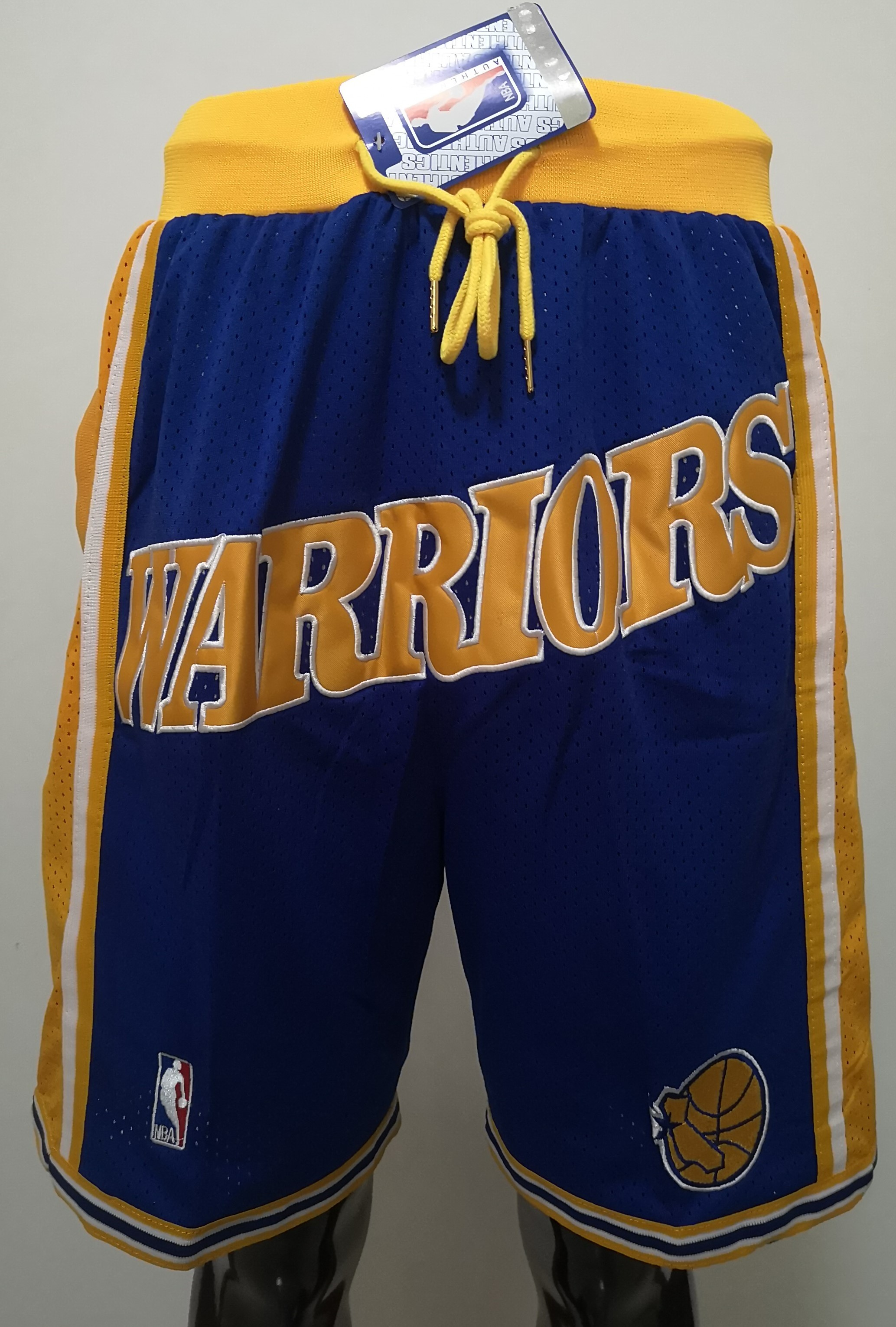 2020 Men NBA Golden State Warriors blue shorts