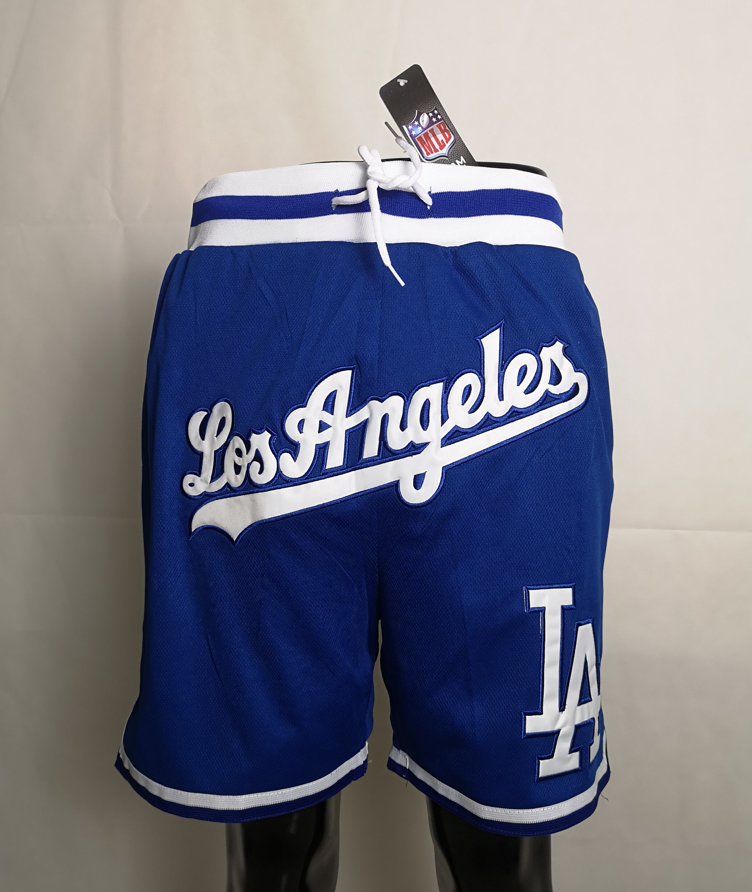 2020 Men NBA Los Angeles Dodgers blue shorts