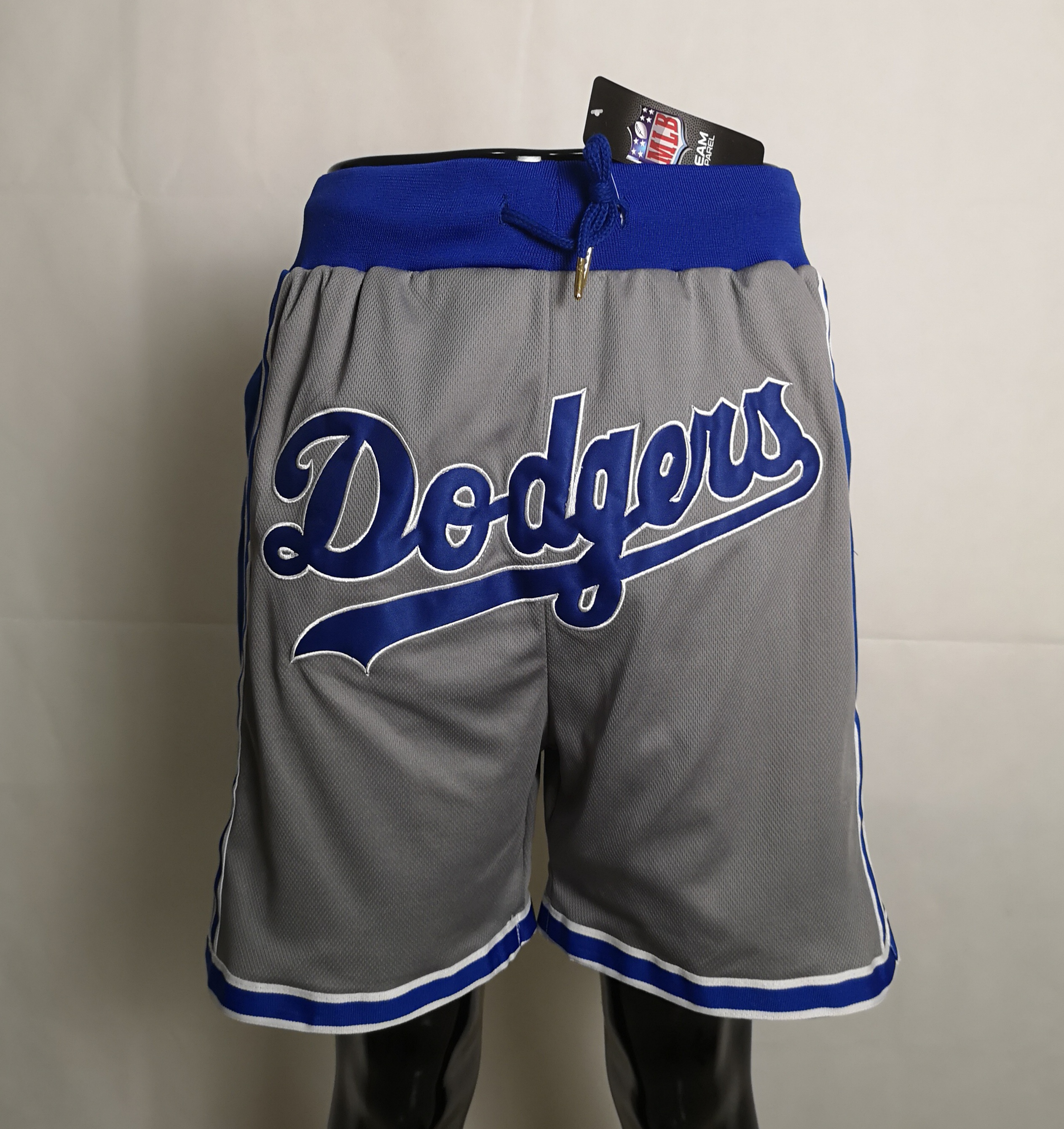 2020 Men NBA Los Angeles Dodgers grey shorts