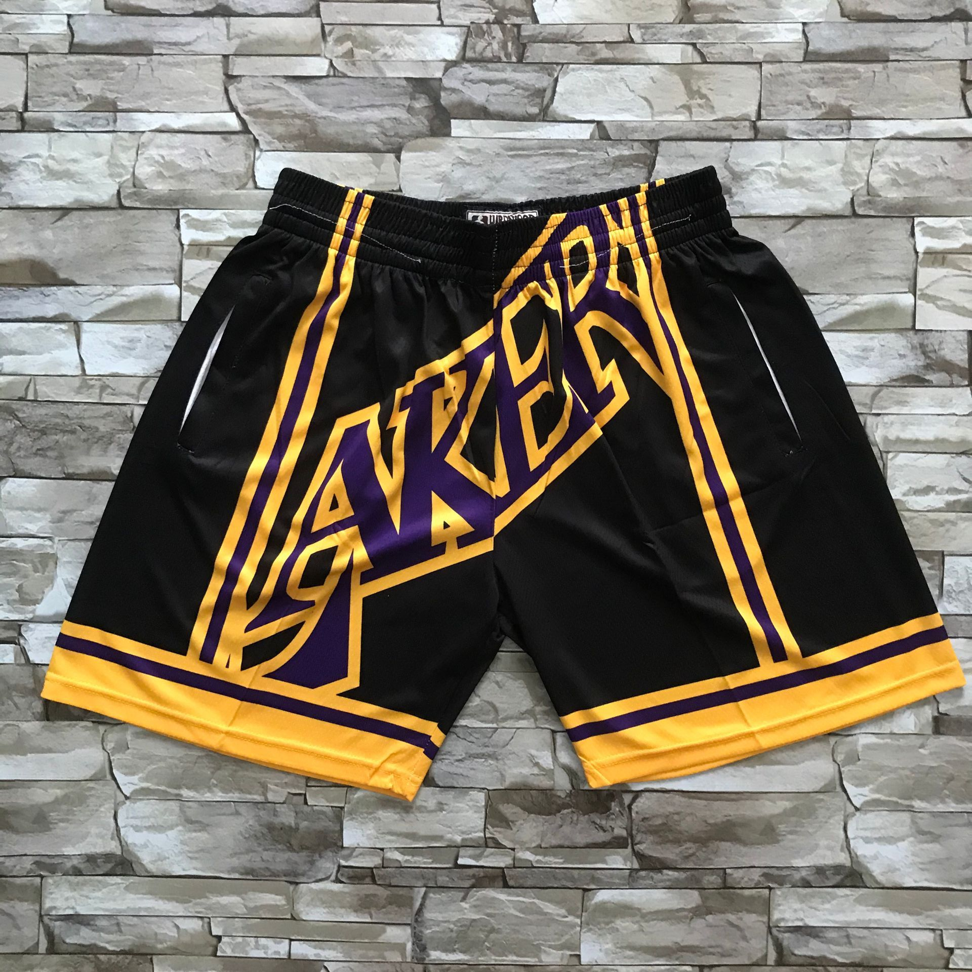 2020 Men NBA Los Angeles Lakers black shorts