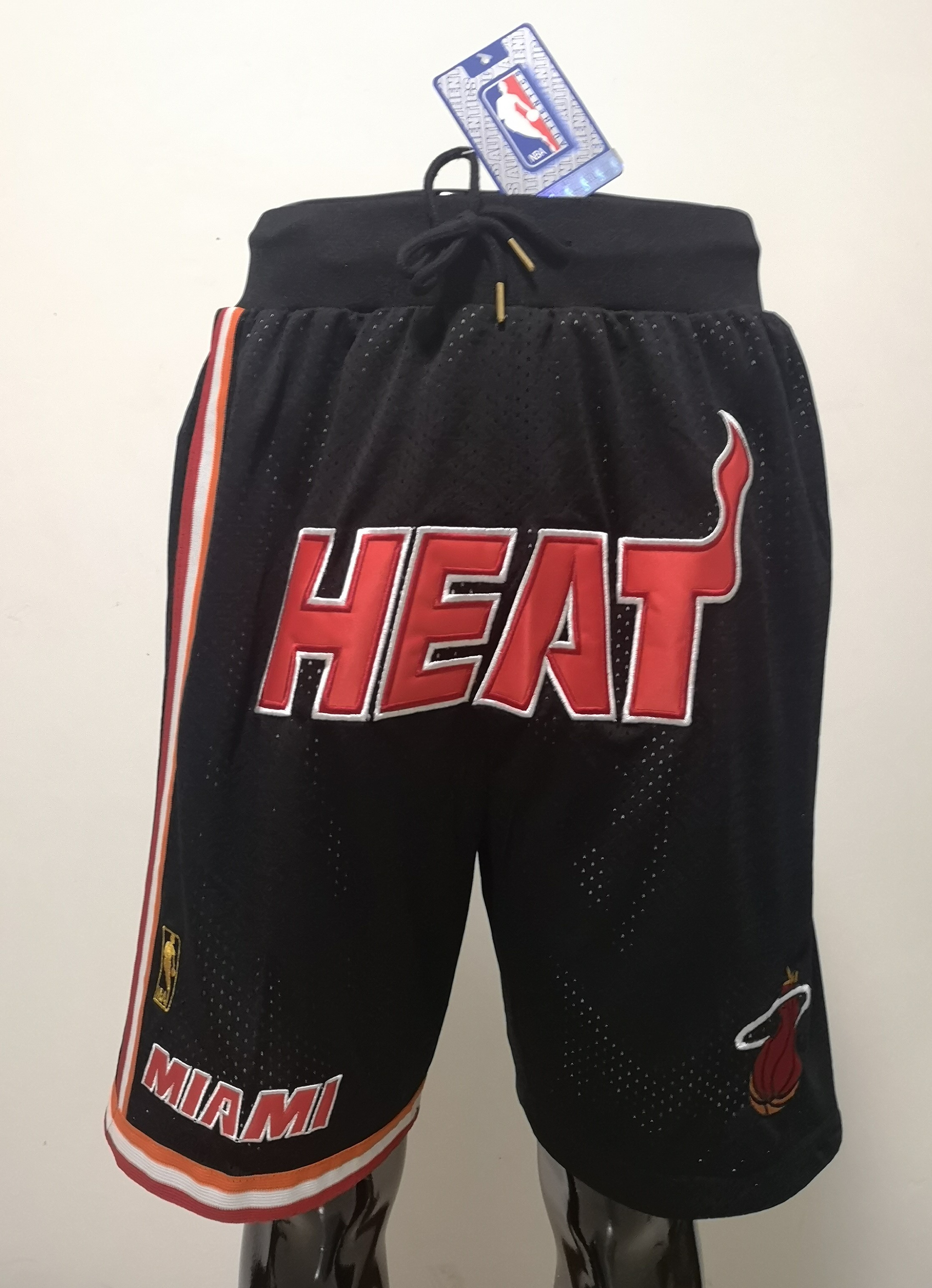 2020 Men NBA Miami Heat black shorts