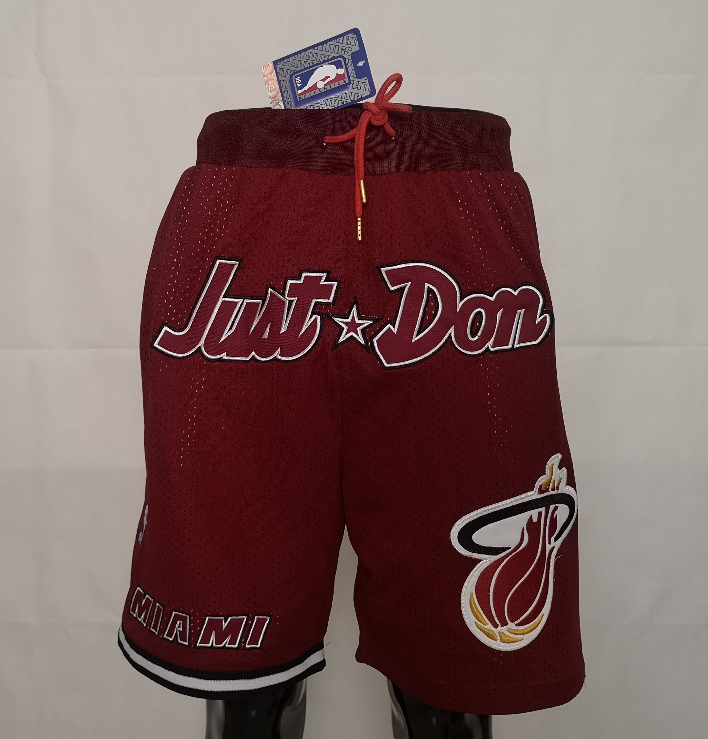 2020 Men NBA Miami Heat red shorts