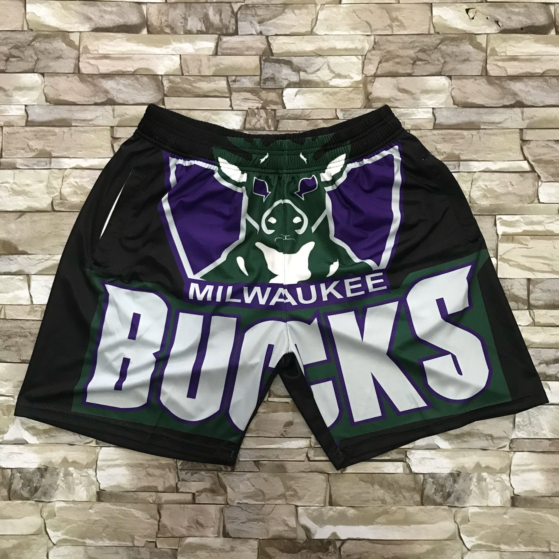 2020 Men NBA Milwaukee Bucks shorts
