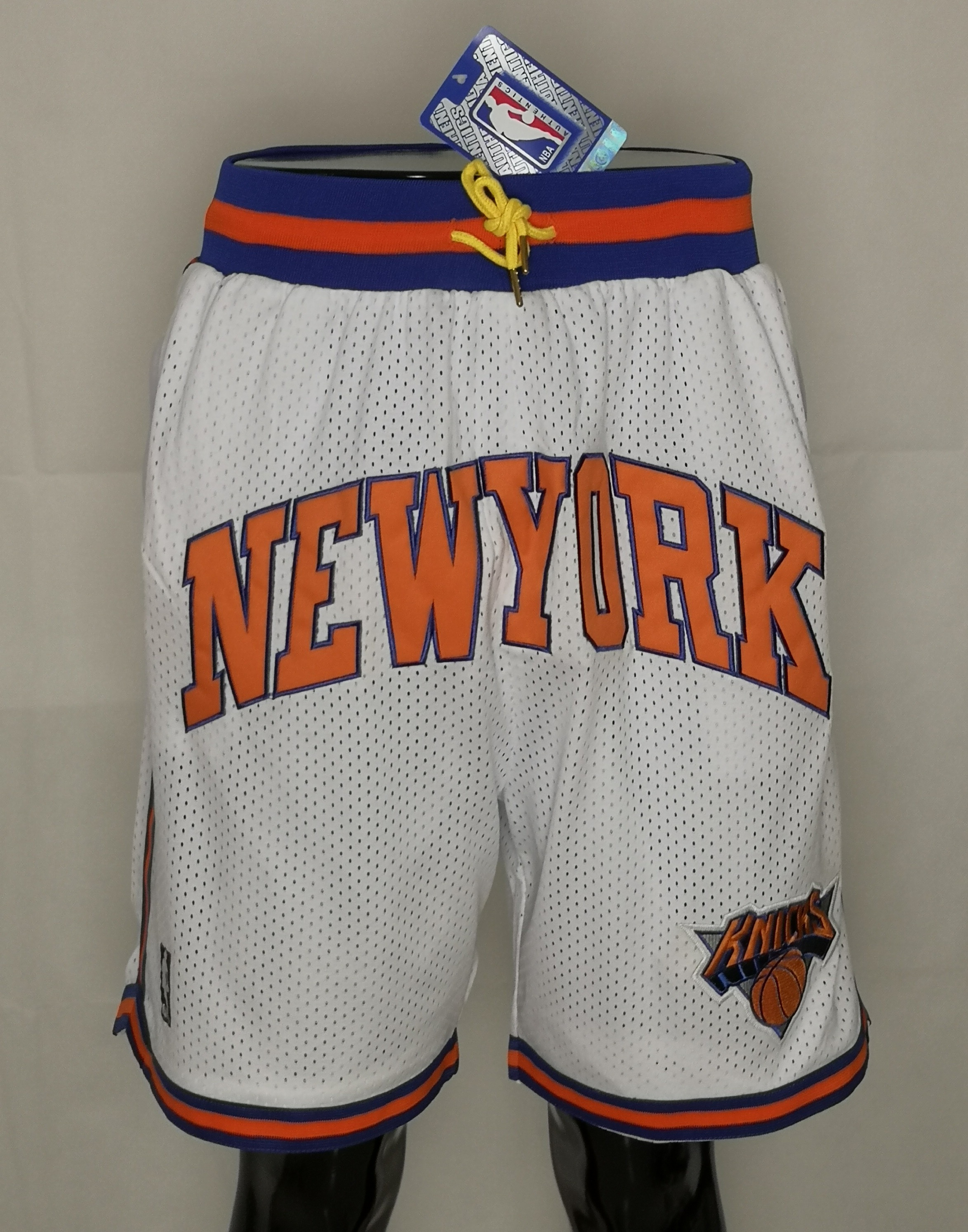 2020 Men NBA New York Knicks white shorts