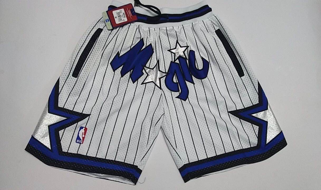 2020 Men NBA Orlando Magic white shorts