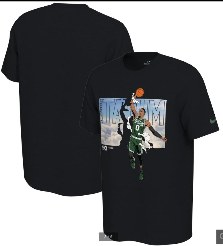 2020 NBA Men Jayson Tatum Boston Celtics Nike Elevation TShirt Black