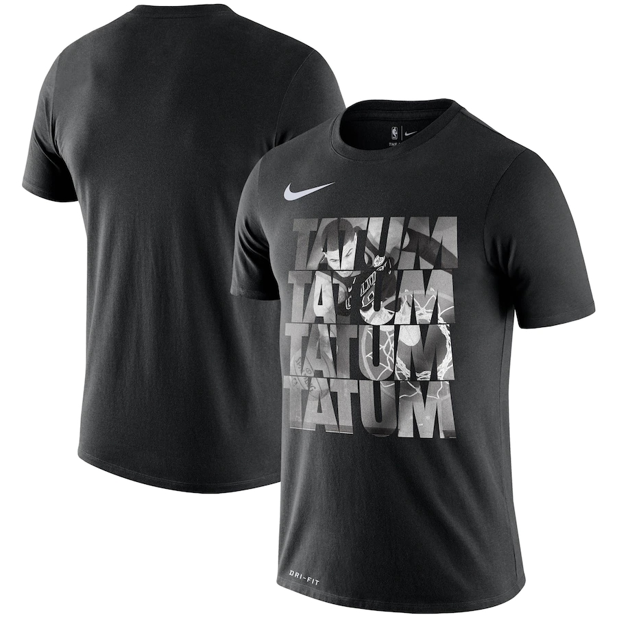 2020 NBA Men Jayson Tatum Boston Celtics Nike Team Player Performance TShirt Black