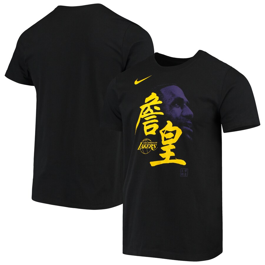 2020 NBA Men LeBron James Los Angeles Lakers Nike Chinese New Year Player TShirt Black