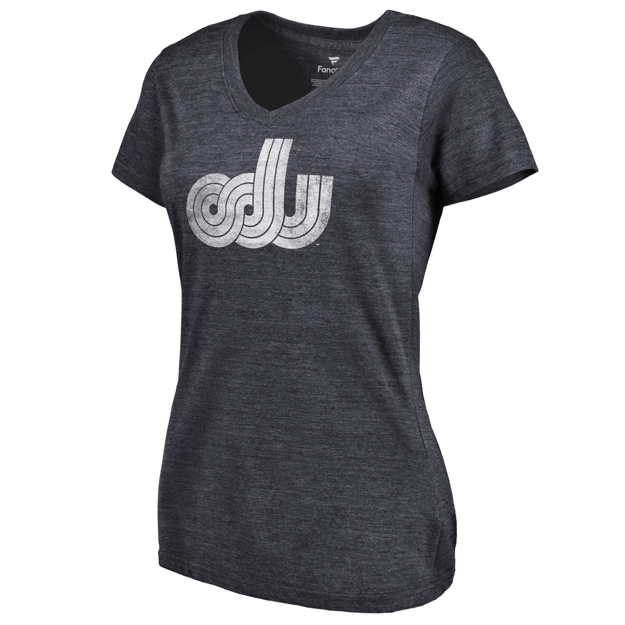 2020 NCAA Fanatics Branded Old Dominion Monarchs Women Navy College Vault Primary Logo TriBlend VNeck TShirt