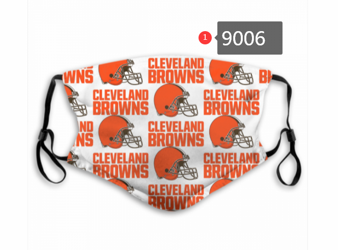 2020 NFL Cleveland Browns 4 Dust mask with filter