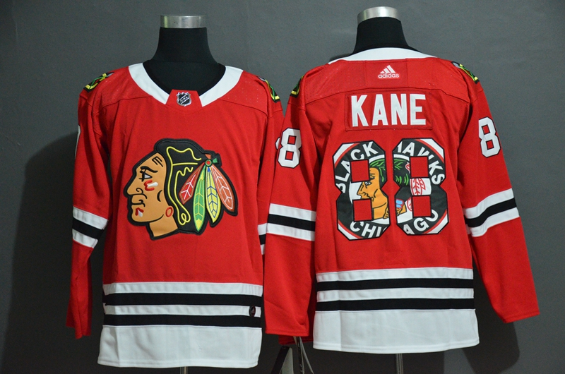 2020 NHL Men Chicago Blackhawks 88 Kane red jerseys