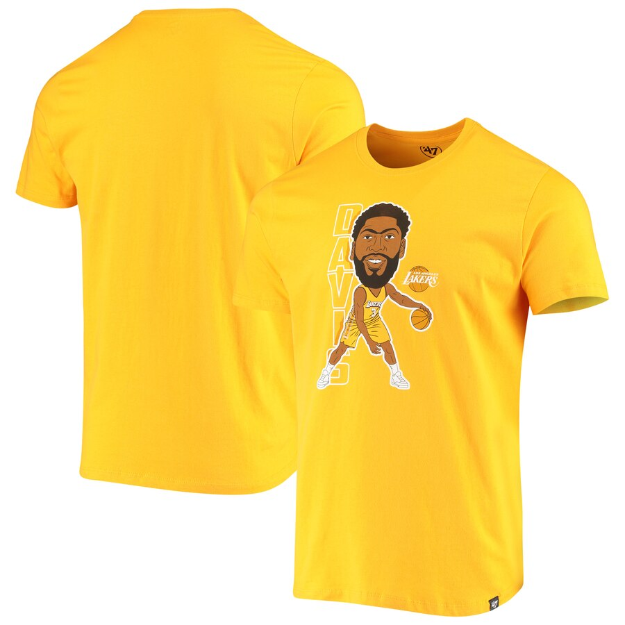 Anthony Davis Los Angeles Lakers Gold Bobblehead Player TShirt