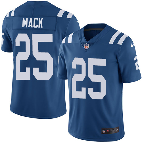Indianapolis Colts 25 Limited Marlon Mack Royal Blue Nike NFL Home Youth Vapor Untouchable jerseys