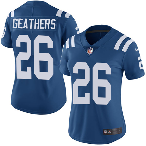 Indianapolis Colts 26 Limited Clayton Geathers Royal Blue Nike NFL Home Women Vapor Untouchable jerseys
