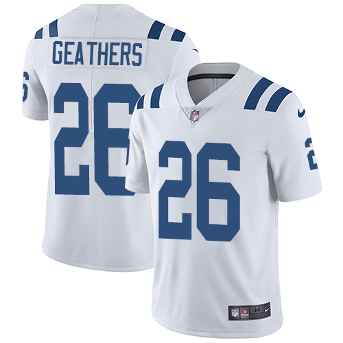 Indianapolis Colts 26 Limited Clayton Geathers White Nike NFL Road Youth Vapor Untouchable jerseys