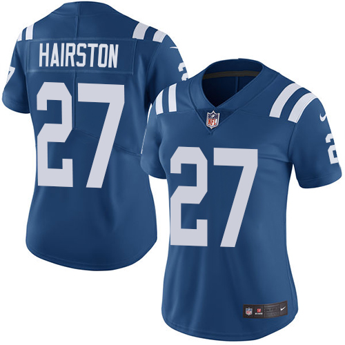 Indianapolis Colts 27 Limited Nate Hairston Royal Blue Nike NFL Home Women Vapor Untouchable jerseys