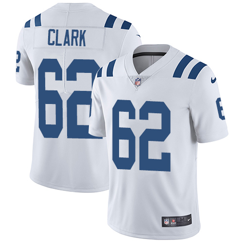 Indianapolis Colts 62 Limited Clark White Nike NFL Road Youth Vapor Untouchable jerseys
