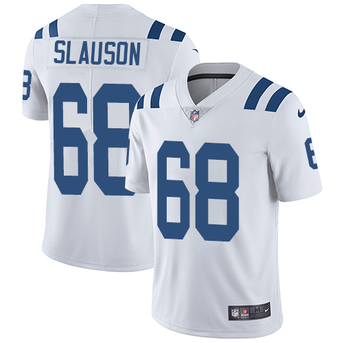 Indianapolis Colts 68 Limited Matt Slauson White Nike NFL Road Youth Vapor Untouchable jerseys