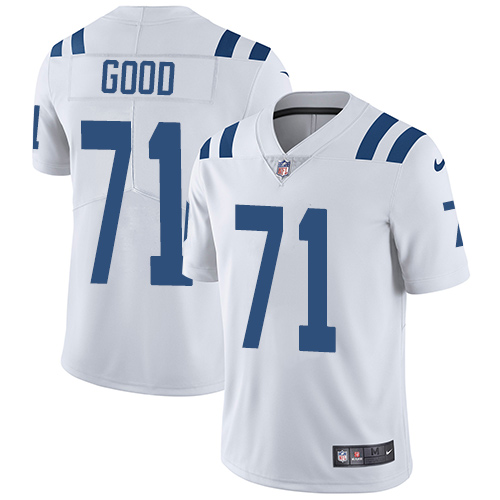 Indianapolis Colts 71 Limited Denzelle Good White Nike NFL Road Youth Vapor Untouchable jerseys
