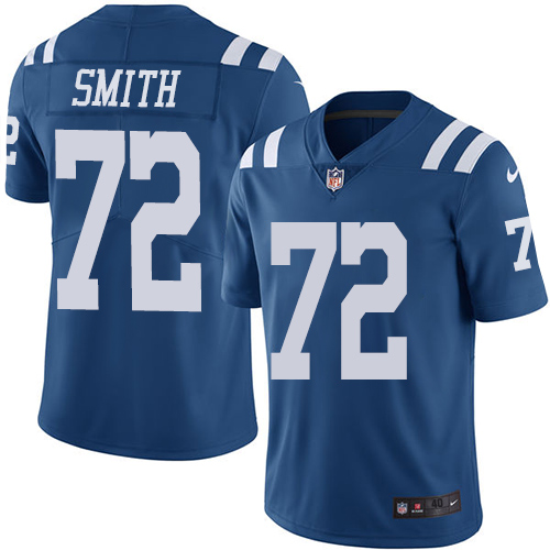 Indianapolis Colts 72 Limited Braden Smith Royal Blue Nike NFL Youth Rush Vapor Untouchable jersey