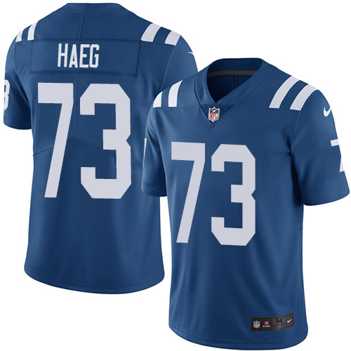 Indianapolis Colts 73 Limited Joe Haeg Royal Blue Nike NFL Home Youth Vapor Untouchable jerseys