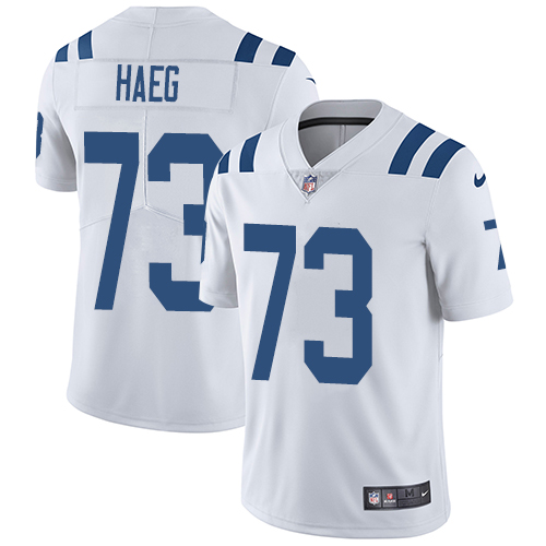 Indianapolis Colts 73 Limited Joe Haeg White Nike NFL Road Youth Vapor Untouchable jerseys