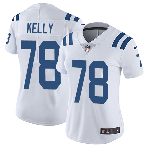 Indianapolis Colts 78 Limited Ryan Kelly White Nike NFL Road Women Vapor Untouchable jerseys