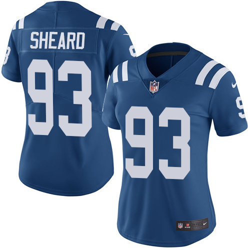 Indianapolis Colts 93 Limited Jabaal Sheard Royal Blue Nike NFL Home Women Vapor Untouchable jerseys