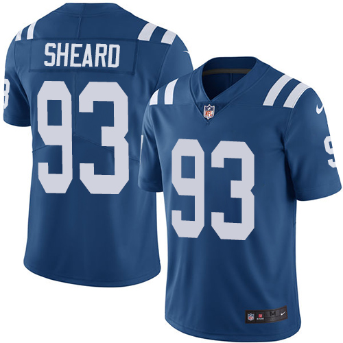 Indianapolis Colts 93 Limited Jabaal Sheard Royal Blue Nike NFL Home Youth Vapor Untouchable jerseys