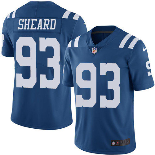 Indianapolis Colts 93 Limited Jabaal Sheard Royal Blue Nike NFL Men Rush Vapor Untouchable jersey