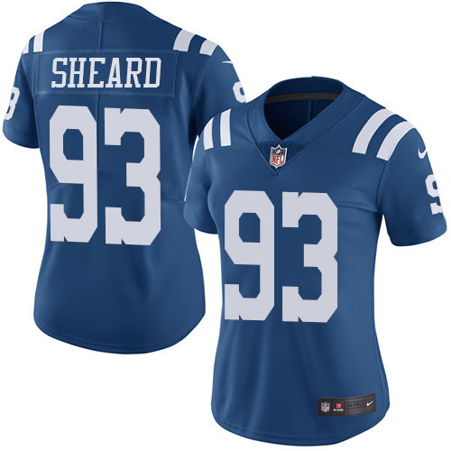Indianapolis Colts 93 Limited Jabaal Sheard Royal Blue Nike NFL Women Rush Vapor Untouchable jersey