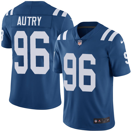 Indianapolis Colts 96 Limited Denico Autry Royal Blue Nike NFL Home Youth Vapor Untouchable jerseys