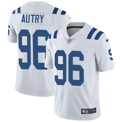 Indianapolis Colts 96 Limited Denico Autry White Nike NFL Road Men Vapor Untouchable jerseys