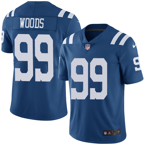 Indianapolis Colts 99 Limited Al Woods Royal Blue Nike NFL Youth Rush Vapor Untouchable jersey