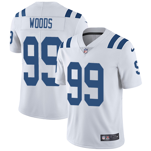 Indianapolis Colts 99 Limited Al Woods White Nike NFL Road Men Vapor Untouchable jerseys