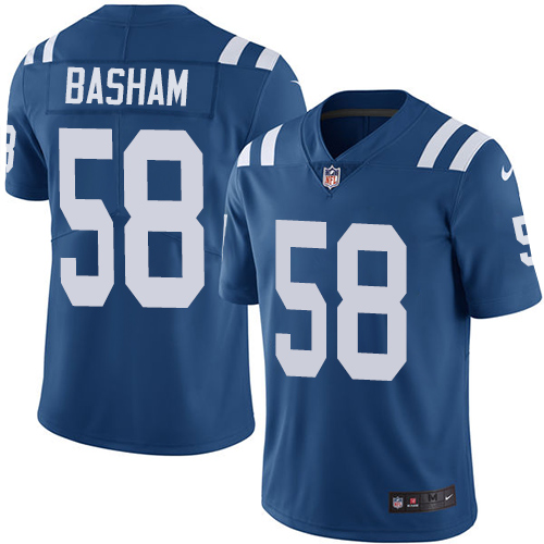 Indianapolis Colts Buy 58 Limited Tarell Basham Royal Blue Nike NFL Home Youth Jersey Indianapolis Colts Vapor UntouchableVapor Untouchable jerseys