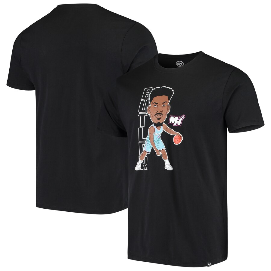 Men 2020 NBA 47 Jimmy Butler Miami Heat Black Bobblehead Player TShirt